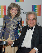 Itzhak Perlman and his wife, Toby, arrive for the formal Artist's Dinner honoring the recipients of the 2013 Kennedy Center Honors hosted by United States Secretary of State John F. Kerry at the U.S. Department of State in Washington, D.C. on Saturday, December 7, 2013. The 2013 honorees are: opera singer Martina Arroyo; pianist,  keyboardist, bandleader and composer Herbie Hancock; pianist, singer and songwriter Billy Joel; actress Shirley MacLaine; and musician and songwriter Carlos Santana.<br /> Credit: Ron Sachs / CNP
