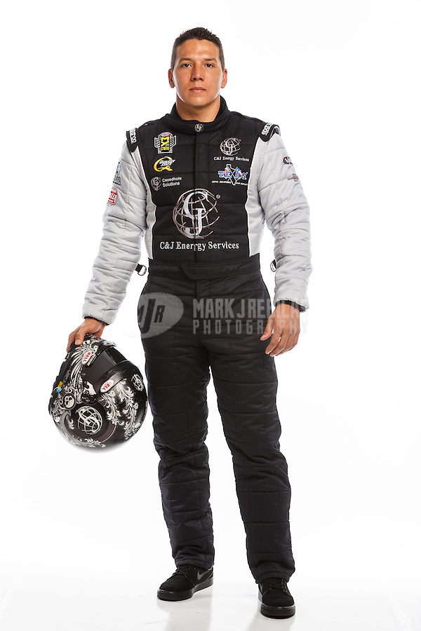 Feb 10, 2016; Pomona, CA, USA; NHRA top fuel driver Dave Connolly poses for a portrait during media day at Auto Club Raceway at Pomona. Mandatory Credit: Mark J. Rebilas-USA TODAY Sports