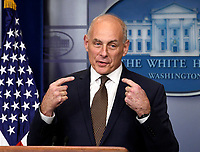 White House Chief of Staff General John Kelly Briefs Press Briefing