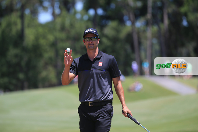 Adam Scott (AUS)  during the Third Round of The Players, TPC Sawgrass, Ponte Vedra Beach, Jacksonville.   Florida, USA. 14/05/2016.<br /> Picture: Golffile   Mark Davison<br /> <br /> <br /> All photo usage must carry mandatory copyright credit (&copy; Golffile   Mark Davison)