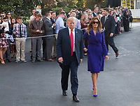 United States President Donald J. Trump and first lady Melania Trump depart the White House in Washington, DC, November 3, 2017 for a multi-day trip to Hawaii and then on to Asia. <br /> Credit: Chris Kleponis / CNP /MediaPunch