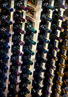 Fruit WInes on bottle rack