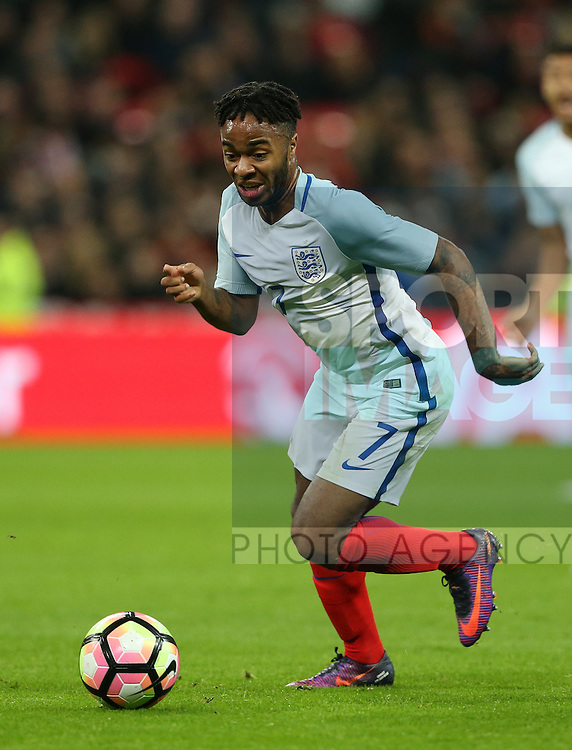 England's Raheem Sterling in action during the friendly match at Wembley Stadium, London. Picture date November 15th, 2016 Pic David Klein/Sportimage
