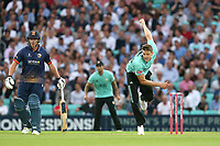 Morne Morkel in bowling action for Surrey during Surrey vs Essex Eagles, Vitality Blast T20 Cricket at the Kia Oval on 12th July 2018