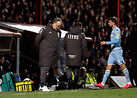 11th February 2020; Griffin Park, London, England; English Championship Football, Brentford FC versus Leeds United; Leeds United Manager Marcelo Bielsa looking disappointed after Patrick Bamford of Leeds United was being subbed off for Jean-Kevin Augustin of Leeds United during the 2nd half