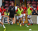 Billy Sharp of Sheffield Utd warms up during the English League One match at Glanford Park Stadium, Scunthorpe. Picture date: September 24th, 2016. Pic Simon Bellis/Sportimage