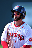 Portland Sea Dogs shortstop Deven Marrero #18  during a game versus the Trenton Thunder at Hadlock Field in Portland, Maine on May 17, 2014. (Ken Babbitt/Four Seam Images)
