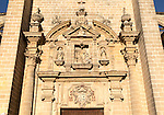Stonework details of the Cathedral church in Jerez de la Frontera, Cadiz province, Spain