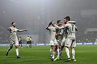 Emre Can of Juventus celebrates with Cristiano Ronaldo, Paulo Dybala, Miralem Pjanic, Mattia De Sciglio after scoring the goal of 0-3 <br /> Reggio Emilia 10-2-2019 Stadio Mapei, Football Serie A 2018/2019 Sassuolo - Juventus<br /> Foto Andrea Staccioli / Insidefoto