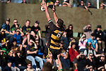 "Josh Chamberlain goes high infront of the embankment crowd. CMRFU Counties Power ""Game of the Week' between Bombay & Pukekohe played at Bombay on Saturday 17th May 2008..Pukekohe led 15 - 0 at halftime & went on to win 42 - 5."