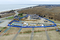 Meigs Point Nature Center at Hammonasset Beach State Park  <br /> Connecticut State Project No: BI-T-601<br /> Architect: Northeast Collaborative Architects  Contractor: Secondino & Son<br /> James R Anderson Photography New Haven CT photog.com<br /> Date of Photograph: 21 December 2015<br /> Camera View: 43 - Aerial by Quadcopter