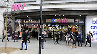 London - HMV became the latest UK High Street store group to call in the administrators and put the future of it's 200 stores and over 4000 staff in jeopardy. Pictured - HMV Flagship store in Oxford Street, London - January 15th 2013..Photo by Bob Kent