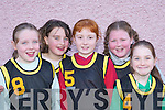 BASKETBALL: The Tigers team that competed in the Basketball Blitz in Currow Community Centre last Saturday. L-r: Siobhan Kelly, Christine McMahon, Erin OConnor, Rebecca Lyons and Charlene OConnor..