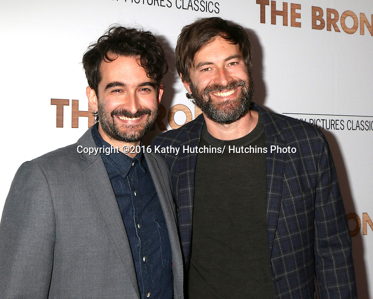 LOS ANGELES - MAR 7:  Jay Duplass, Mark Duplass at the The Bronze Premiere at the SilverScreen Theater at the Pacific Design Center on March 7, 2016 in Los Angeles, CA