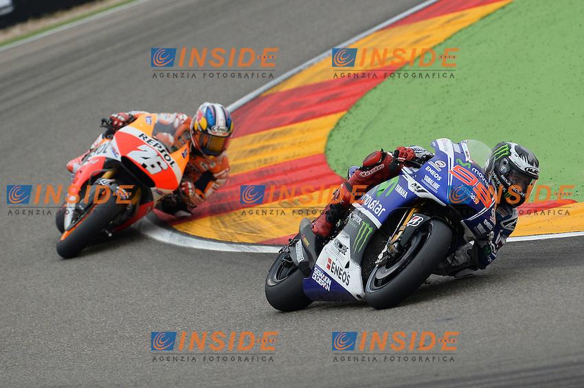 Aragon (Spagna) 28/09/2014 - gara Moto GP / foto Luca Gambuti/Image Sport/Insidefoto<br /> nella foto: Jorge Lorenzo-Dani Pedrosa