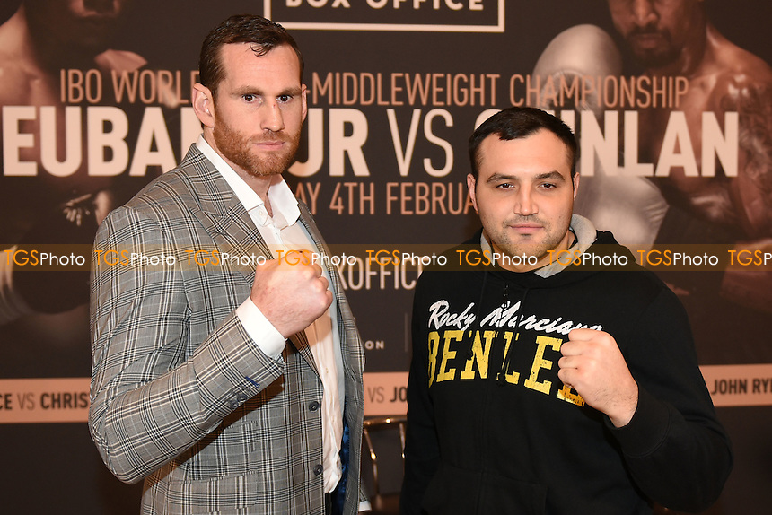 Boxers David Price (L) and Christian Hammer during a Poxon Sports Press Conference at the Apex Room on 2nd February 2017