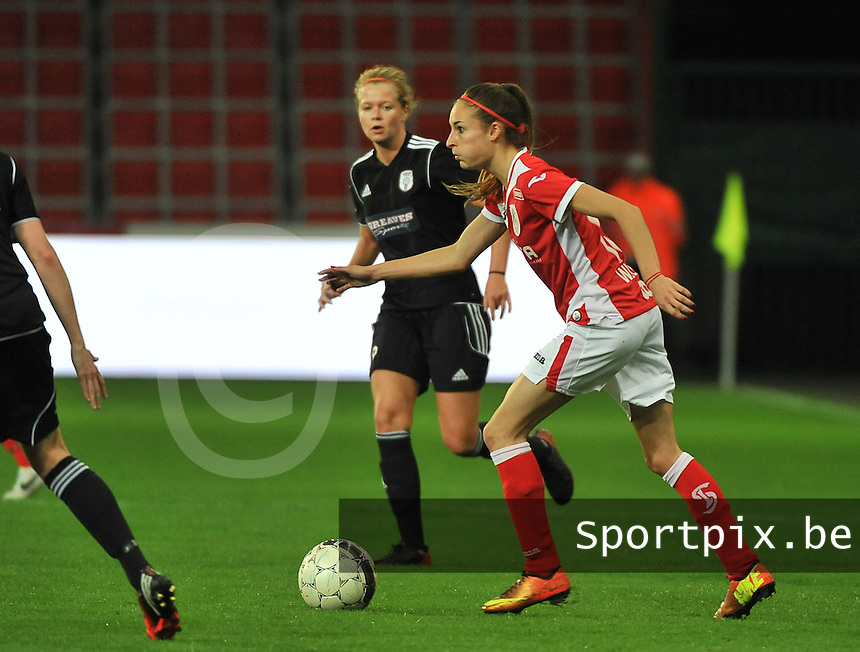 20131009 - LIEGE , BELGIUM : Standard's Tessa Wullaert pictured during the female soccer match between STANDARD Femina de Liege and  GLASGOW City LFC , in the 1/16 final ( round of 32 ) first leg in the UEFA Women's Champions League 2013 in stade maurice dufrasne - Sclessin in Liege. Wednesday 9 October 2013. PHOTO DAVID CATRY