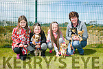 l-r  Abigail Geary, Annie Shanahan, Ava Bradley and Ann Bradley with Fionn, Rosie, Ally and Rocco. at the Dog Show and Fun Day fundraiser for Irish Guide Dogs at the John Mitchels sports complex on Saturday