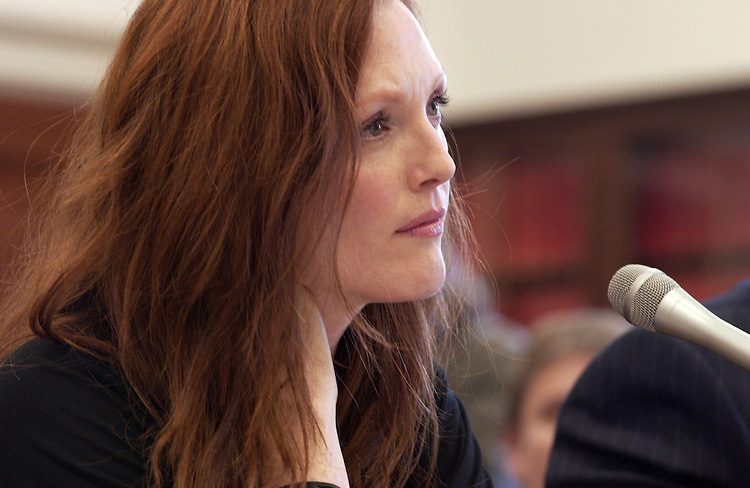 Actress Julianne Moore and Jerrold Nadler testifie before the House Appropriations subcommittee hearing on tuberous sclerosis complex.