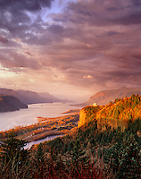 Sunset at Crown Point. Columbia River Gorge National Scenic Area, Oregon.
