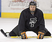 Brett Westgarth - Princeton University Tigers took part in their morning skate on Friday, December 30, 2005 before facing the University of Denver in their first game of the Denver Cup at Magness Arena in Denver, Colorado.  Princeton defeated DU that evening 4-1.