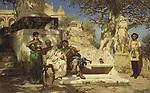 """The patrician's siesta, 1881. Artist: Siemiradzki, Henryk (1843-1902)"""
