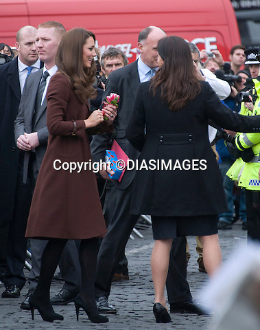 "CATHERINE, DUCHESS OF CAMBRIDGE SOLO VALENTINE'S DAY - SECURITY.Kate spent her first Valentine's Day of married life on her own, with Prince William away in the Falkland Islands London..Instead she visited a couple of her charities in Liverpool - The Brink and Alder Hey Children's Hospital..On her visit to The Brink, Kate received red roses, a Valentine card and a gift ..MANDATORY PHOTO CREDIT:©Dias/DIASIMAGES - NEWSPIX INTERNATIONAL..Mandatory credit photo:DiasImages/NEWSPIX INTERNATIONAL(Failure to credit will incur a surcharge of 100% of reproduction fees)..                **ALL FEES PAYABLE TO: ""NEWSPIX INTERNATIONAL""**..IMMEDIATE CONFIRMATION OF USAGE REQUIRED:.DiasImages, 31a Chinnery Hill, Bishop's Stortford, ENGLAND CM23 3PS.Tel:+441279 324672  ; Fax: +441279656877.Mobile:  07775681153.e-mail: info@newspixinternational.co.uk"