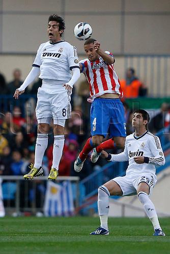 27.04.2013. Madrid, Spain.  La Liga football  Atletico de Madrid vs Real Madrid CF (1-2) at Vicente Calderon stadium. The picture shows  Ricardo Izecson Kaka (Brazilian midfielder of Real Madrid)