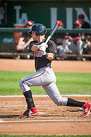 Tyler Stephenson (53) of the Billings Mustangs at bat against the Ogden Raptors in Pioneer League action at Lindquist Field on August 16, 2015 in Ogden, Utah. Billings defeated Ogden 6-3. (Stephen Smith/Four Seam Images)