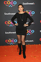 HOLLYWOOD, CA - NOVEMBER 8: Constance Marie, at The U.S. Premiere of Disney-Pixar's 'Coco' at the El Capitan Theatre in Hollywood, California on November 8, 2017. Credit: Faye Sadou/MediaPunch