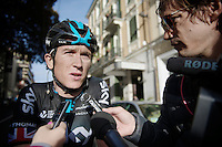 Geraint Thomas (GBR/SKY) post-race interview<br /> <br /> 106th Milano - San Remo 2015