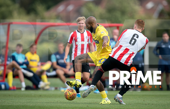 Josh Parker of Wycombe Wanderers during the behind closed doors friendly between Brentford B and Wycombe Wanderers at Brentford Football Club Training Ground & Academy, 100 Jersey Road, TW5 0TP, United Kingdom on 3 September 2019. Photo by Andy Rowland.