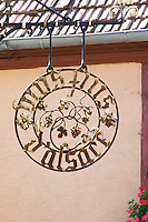 wrought iron sign rodern alsace france