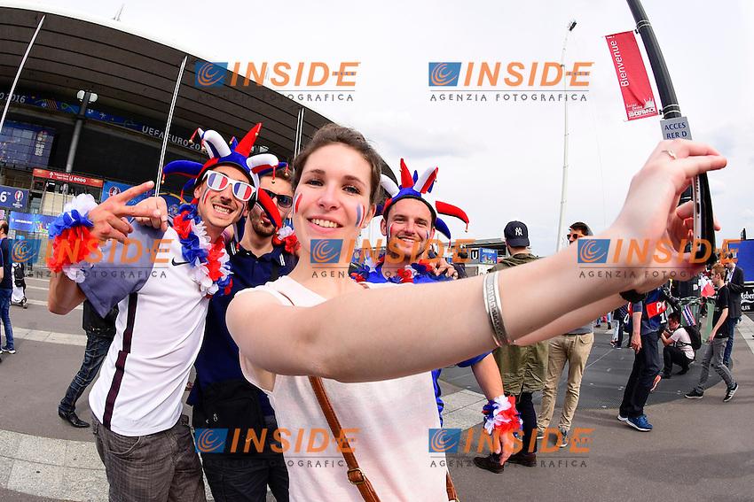 Tifose Francia <br /> Paris 10-06-2016 Stade de France football Euro2016 France - Romania  / Francia - Romania Group Stage Group A. Foto Federico Pestellini / Panoramic / Insidefoto