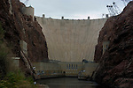 Hoover Dam on border of Arizona, AZ, Nevada, NV, flood control, drinking water source, Colorado River, image nv411-18626.Photo copyright: Lee Foster, www.fostertravel.com, lee@fostertravel.com, 510-549-2202