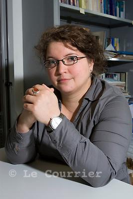 Genève, le 22.05.2009.Mme le docteur Samia Hurst,  Institut d'éthique biomédicale.© Le Courrier / J.-P. Di Silvestro