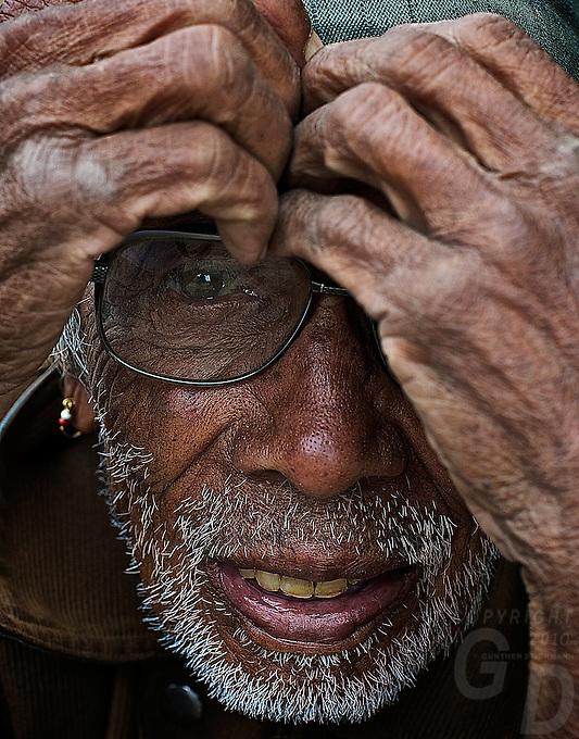 Old man at Bungamati Village, Nepal, Kathmandu