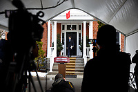 Prime Minister Trudeau speaks with Media outside of Rideau Cottage. April 21, 2020.