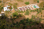 Farmhouse smallholding vegetable patches Corumbela, Malaga province, Spain