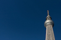 Tokyo Skytree communications tower in Oshiage, Tokyo, Japan. Sunday September 16th 2012