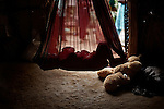 CHENNAI, INDIA, JULY 2012: a child sleeping in his crib quiet Female infanticide is the intentional killing of baby girls due to the preference for male babies and from the low value associated with the birth of females.In rural India, the centuries-old practice of female infanticide can still be considered a wise course of action,july 2012 © Giulio Di Sturco..