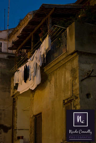 Clothesline in Urban Italian Town.