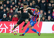 9th December 2017, Selhurst Park, London, England; EPL Premier League football, Crystal Palace versus Bournemouth; Joshua King of Bournemouth is tackled by James Tomkins of Crystal Palace