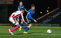 Stoke City's u23 Ibrahim Afellay watches Rochdale's Ollie Rathbone brings the ball to the box<br /> <br /> Photographer Juel Miah/CameraSport<br /> <br /> EFL Checkatrade Trophy - Northern Section Group C - Rochdale v Stoke City U23s - Tuesday 3rd October 2017 - Spotland Stadium - Rochdale<br />  <br /> World Copyright &copy; 2018 CameraSport. All rights reserved. 43 Linden Ave. Countesthorpe. Leicester. England. LE8 5PG - Tel: +44 (0) 116 277 4147 - admin@camerasport.com - www.camerasport.com