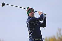 Eoin O'Brien (Maynooth University) on the 10th tee during the final of the Irish Students Amateur Open Championship, Tralee Golf Club, Tralee, Co Kerry, Ireland. 12/04/2018.<br /> Picture: Golffile | Fran Caffrey<br /> <br /> <br /> All photo usage must carry mandatory copyright credit (&copy; Golffile | Fran Caffrey)