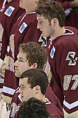 Dan Bertram, Brian O'Hanley, Andrew Orpik (bottom left to top right) - The Boston College Eagles defeated the University of North Dakota Fighting Sioux 6-5 on Thursday, April 6, 2006, in the 2006 Frozen Four afternoon Semi-Final at the Bradley Center in Milwaukee, Wisconsin.