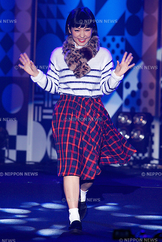 "Natsuko Kondo, September 28, 2014, Tokyo, Japan : Model Natsuko Kondo wearing fashion brand ""mer"" walks down the catwalk during the ""Moshi Moshi Nippon Festival 2014"" on September 28, 2014 in Tokyo, Japan. Several famous Idols such as Dempagumi idol group, Kyary Pamyu Pamyu and Harayuku models attend the Moshi Moshi Nippon Festival 2014 to promotes the Japanese pop culture (fashion, anime, music and food) to non-Japanese people. (Photo by Rodrigo Reyes Marin/AFLO)"