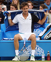 13.06.13 London, England. Edouard Roger-Vasselin during the The Aegon Championships from the The QueenÕs Club in West Kensington.