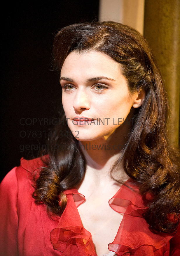A Streetcar Named Desire by Tennessee Williams,directed by Rob Ashford.With Rachel Weisz as Blanche DuBois.Opens at The Donmar Warehouse Theatre on  28/7/09. CREDIT Geraint Lewis