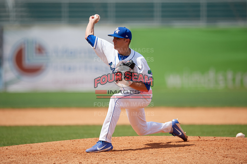Lexington Legends relief pitcher Andrew Beckwith (11) delivers a pitch during a game against the Rome Braves on May 23, 2018 at Whitaker Bank Ballpark in Lexington, Kentucky.  Rome defeated Lexington 4-1.  (Mike Janes/Four Seam Images)